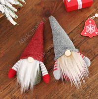 DHL Christmas Handmade Swedish Gnome Scandinavian Tomte Santa Nisse Nordic Plush Elf Toy Table Ornament Xmas Tree Decorations DAZ280