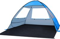 Tents And Shelters MOVTOTOP 2191C -Up Beach Tent With Long Mat Portable Sun Shading Shelter Automatic For Travel Hiking Camping Vacation
