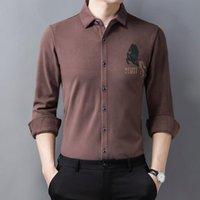 Große Größenwinter Warm Plüsch Bluse für Herren Green Flannelette Shirts Stout Claret Mode Ehemann Kleidung Khaki Thermal Männer Lässig