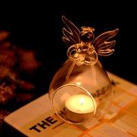 Romantico angelo crystal vetro candela portacandele appeso tea light lanterna candeliere bruciatore vaso fai da te decorazione festa di nozze 4542 q2