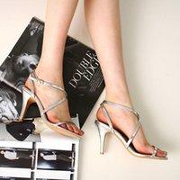 Dress Shoes Sandálias femininas salto alto, sapatos sexy de verão para mulheres, com alça cruzada, dos peep toe, festa preto e branco, HVO0