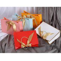 5 stücke boutique party geschenk papier tasche festival einwickeln bogen tragbar mit rand valentinstag hochzeit dekoration wrap