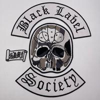 Black Label Social Broderie Patch Veste Veste Veste Veste Patch Iron Punk Vêtements Badge Accessoire Passe Convient pour: Vêtements, Sacs à dos, Cas de téléphone mobile