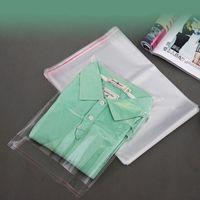 100 pcs 32 * 50cm Limpar sacos de vestuário auto selo sacos de plástico festa de casamento OPP Gift Saco sacos adesivos para t-shirt e roupas