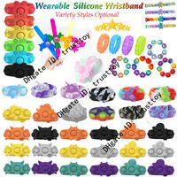 Halloween Zappel Armband Spielzeug Armband Spinner Rainbow Push Bubble Sensorische Dekompression Neuheit Spielzeug Autismus Sonderanforderungen Stress Reliever Party Kinder Geschenke