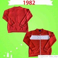 1982 تايلاند نوعية رياضية راش الركض الدعاوى جونستون والش ريترو لكرة القدم جيرسي خمر كرة القدم قميص أعلى موحدة المنزل الأحمر التدريب ارتداء سترة