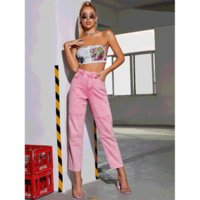 Fashion Pencil Pants Women High Waist Patchwork Midweight Jeans Designer Washed Skinny Bellbottoms Girls Slim Denim Womens Trousers Loose Panelled Tiered