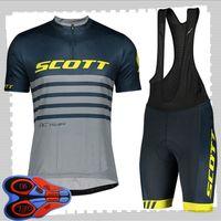 Scott Team Cycling Mangos cortos Jersey (babero) Sets Shorts Sets Mens Summer Transpirable Road Bicycle Ropa MTB Bike Outfits Uniforme deportivo Y21041495