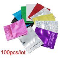 Recipientes de armazenamento de poupadores de alimentos Vários dos tamanhos rasgam o bolsa de alumínio da folha de alumínio sacos de selagem de calor preto / azul / prata / verde / vermelho / g