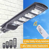 Solarlampen AugienB 300W / 450W / 600W 560LED Straßenleuchte Wasserdichte IP65 PIR Motion Sensor Fernbedienung Außenbeleuchtung Sicherheitslampe