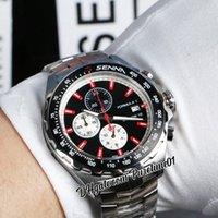 F1 F Tek Formula 1 Senna Miyota Kuvars Chronograph Erkek İzle Beyaz İç Siyah Kadran Kırmızı Sopa İşaretleyiciler Paslanmaz Çelik Bilezik Kronometre Saatler Puretime01 Z43A1
