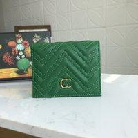 Top hochwertige einzelne Reißverschluss Brieftaschen Karteninhaber Frankreich Paris Alphabet Farbe Stil Luxurys Herren Frauen High-End-Designer mit Verpackungsbox 488109-6