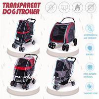 Ao ar livre carrinho de estimação cão carrier carrier carrier capa chuva para todos os tipos e carros camas móveis