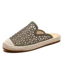 Sandálias de verão Sandálias Broca de Água Versátil Palha Pescador Sapatos Net Red Women Slippers