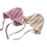 Caps & Hats Pudcoco 5 Colors Born Baby Hat Lovely Autumn Winter Warm Knit Beanie Adjustable Sun Protection For Toddler Infant