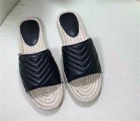 Женские летние кожаные ткацкие пляжные тапочки открытые носки плоские каблуки сандалии элегантные сексуальные наружные слайды женские туфли 2021 New Fashio