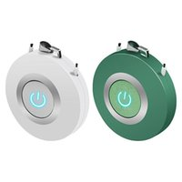 2x Hanging Neck Air Purifier, Stylish Personal Wearable USB Car Oxygen Bar Negative Ion Purifier White & Green Purifiers