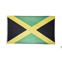 Jamaica-flag 3x5 150x90cm Custom Hanging National All Countries Digital Printed Polyester Support HWE6622