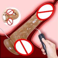 12 Velocidade Dildo Vibrador Flesh Dildo realista com ventosa, otário grande pênis artificial para mulheres brinquedos sexuais, adult health produto Y201118