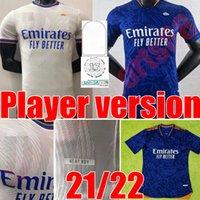 21 22 플레이어 버전 레알 마드리드 축구 유니폼 2021 2022 홈 멀리 위험 Modric Sergio Ramos Maillots de Football Shirt Benzema Marcelo Asensio Uniform