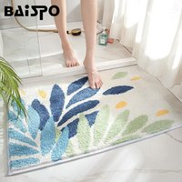Simple Bath Mat On The Floor Anti Slip Fast Water Absorption Home Bedroom Living Room Carpet For Bathroom Accessories Mats