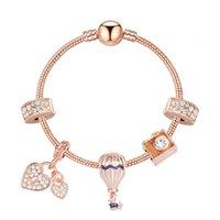 2020 New Pandora Style Charm Bracelet Femmes Perles De Mode Bracelet Plaqué Rose Gold Gold Pendentifs Bracelets Bijoux Mariage