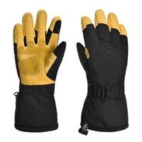 Skihandschuhe Winter Thermal Warme Hand Winddichtes Fahrrad Camping Wandern Verstellbarer Handgelenkband für Sport