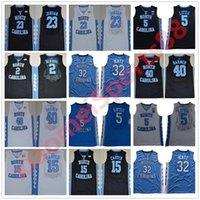 NCAA Basketbol Forması 5 Nassir Küçük Carter 32 Luke Maye Kuzey Carolina Tar Topuklu Michael Koleji Barnes Vince UNC Mavi Siyah Formalar Şort