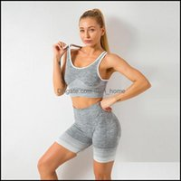 Outfits Exercise Wear Athletic Outdoor Apparel Sports & Outdoors2Pcs Seamless Set Gym Fitness Clothing Women Yoga Suit Sportswear Female Wor