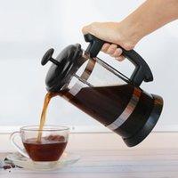 Filtros de café I Cafilas 1000ml Acero inoxidable Prensa Francesa Pot Cafetiere Taza Borosilicato Fabricante de té de vidrio