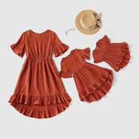 Family Matching Outfits Mother Daughter Dresses Clothing Princess Dress Girls Clothes Children Jumpsuit Baby Rompers Kids Bodysuits B6271