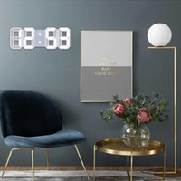 Wall Clocks 3D Modern Design Clock USB Digital Table Alarm Nightlight Hanging Watch For Home Office Teenage Room Decoration