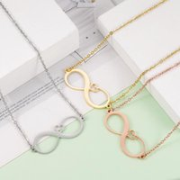 Pendant Necklaces Fnixtar 20Pcs Hollow Infinity Heart Stainless Steel Cable Chain For Women's Men's Fashion Jewelry