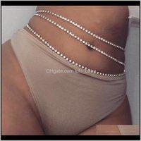 Body Sexy Claw Strass Bikini Bikini Monili di personalità MVKFQ Catene della pancia R3CCF
