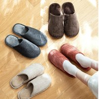 Quality Cotton Slippers Multi Sizes Colors Autumn Winter Indoors Women Shoes Comfortable Washable Bath Accessory Set