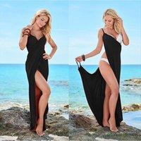 Plus Tamanho Tamanho Up Warp Mulheres Dress Pareo Backless Swimwear Beach Sexy Sling Wear