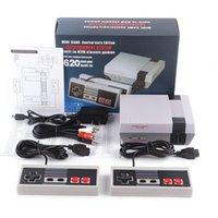 미니 AV TV 비디오 게임 콘솔 컨트롤러 8 비트 엔터테인먼트 시스템 핸드 헬드 2 플레이어 NES 620 500 게임 콘솔 컨트롤러 어린이 선물 UPS