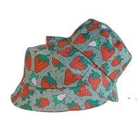 편지 딸기 인쇄 야구 모자 여성 면화 조절 가능한 두개골 스포츠 골프 곡선 고품질 선인장 태양 모자 BWF6326