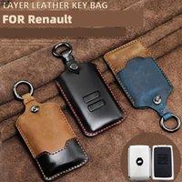 Клазочные килограммы кожаных автомобилей Клавиши для Renault Clio Talisman Megane живописный Kadjar Captur Koleos Smart Remote Fob Cover Cover