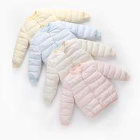 Fashion Cute Winter Kids Waistcoats Baby Boys Girls Jacket Down Clothing Sweet Coat Candy-colored Outwear