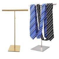 Wire Drawing Stainless Steel Scarf Display Rack Wraps Shawl Necktie Purse Handbag Display Stand Holder Rack