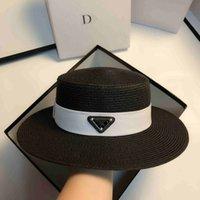Frauen Sommer Strand Hut Designer Mode Wide Remp Straße Fedora Hut A1 Womens Eimer Hüte Lässige Webart Streifenkappen