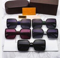 جودة عالية النظارات الشمسية مصمم الاستقطاب uv برهان للجنسين شاطئ إلكتروني الفاخرة العلامة التجارية الكبيرة الإطار مربع النظارات في الهواء الطلق المتضخم أشعة الشمس