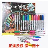 Canetas americanas Sanfu Sharpie Mark Pen Set 24 peças de design de animação arte pintura de cor