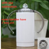 sublimation 12oz sippy cup straight tumbler TWO LIDS watter bottle stainless steel kids cups with handle
