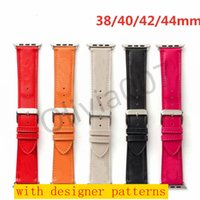 أزياء مصمم watchbands ل أبل ووتش باند 42 ملليمتر 38 ملليمتر 40 ملليمتر 44 ملليمتر iwatch 1 2 345 العصابات جلدية حزام سوار الأزياء المشارب O07
