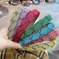 Designer Bambini Colorful Lettera Fascia Fascia Ragazze strette per capelli Sticks Moda Donna Bang Broken HairClip Bambini Accessorie A7551