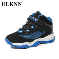 ULKNN Middle Children's Sports Shoes 2020 New 8 Primary School Kids 9 Big Boys Casual Tide 10 High To Help Basketball Shoes 11 G0914
