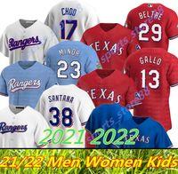 2021 2022 Texas Ryan Jersey 13 Joey Gallo 29 Adrian Beltre Hamels Fielder Desha de Santana Leclerc Menor Lynn Chirinos Alexis Rangers Baseball Camisas