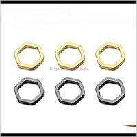 50pcslot fashion laiton creux pendentif géométrique cuivre hexagone charmes pour bricolage bracelet collier boucles d'oreilles bijoux faisant qwp58 j9gkl